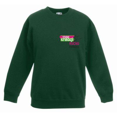Bluza taneczna kolor butelkowa zieleń (38)