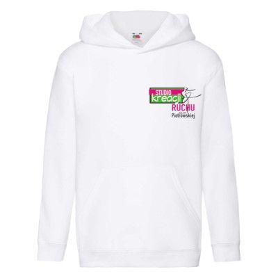 Bluza z kapturem premium kolor biały (30)