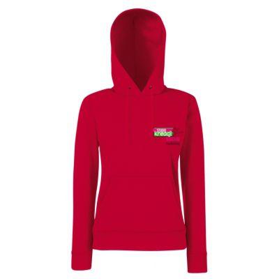 Damska bluza z kapturem classic kolor czerwony 40