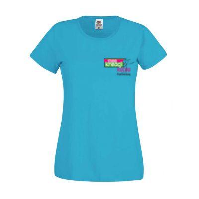 Koszulka damska kolor azurowy ZU