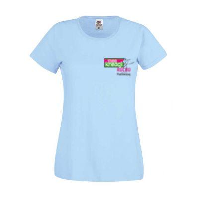 Koszulka damska kolor błękitny YT