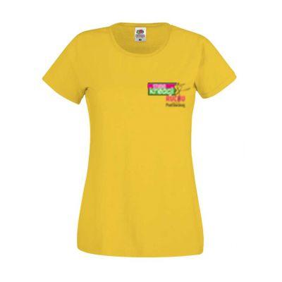Koszulka damska kolor ciemnożółty 34