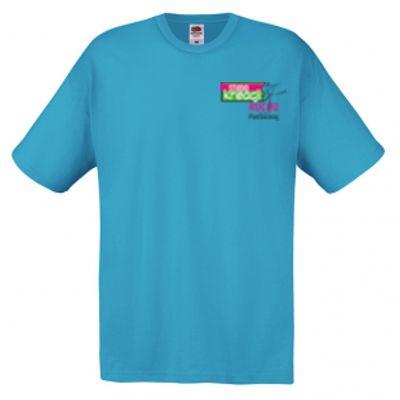 Koszulka męska kolor azurowy ZU