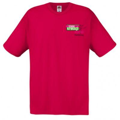 Koszulka męska kolor czerwony 40