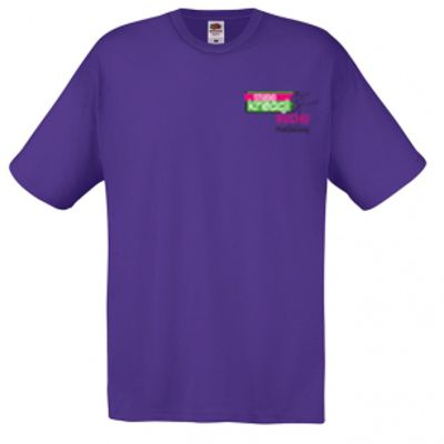 Koszulka męska kolor fioletowy PE