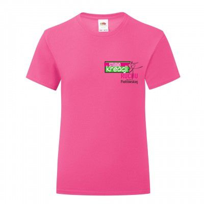 Koszulka taneczna kolor fuchsia (57)