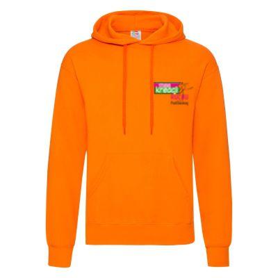 Męska bluza z kapturem classic pomarańczowy 44