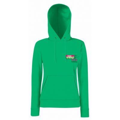 Damska bluza z kapturem classic kolor kelly green 47