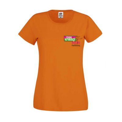 Koszulka damska kolor pomarańczowy 44