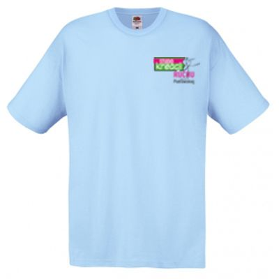 Koszulka męska kolor błękitny YT