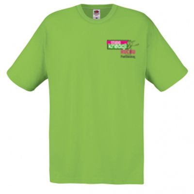 Koszulka męska kolor limonkowy LM