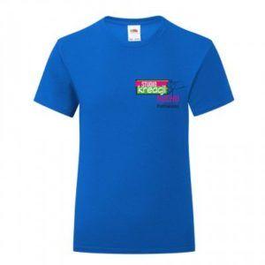 Koszulka taneczna kolor ciemnoniebieski