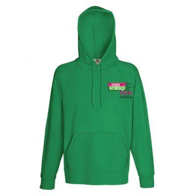 Męska, lekka bluza kangurek z kapturem kolor kelly green 47